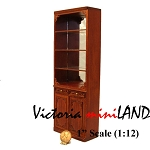 Highend wide Shelving Unit for 1900 line dollhouse miniature 1:12 scale walnut